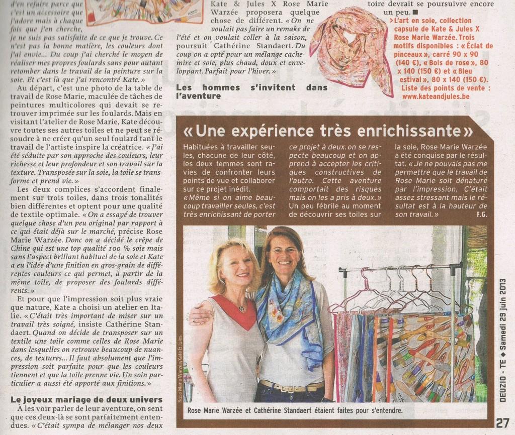 L'Avenir - 29 juin 2013